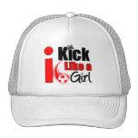 I Kick Like A Girl Mesh Hat