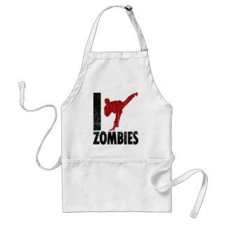 I Kick Zombies Adult Apron