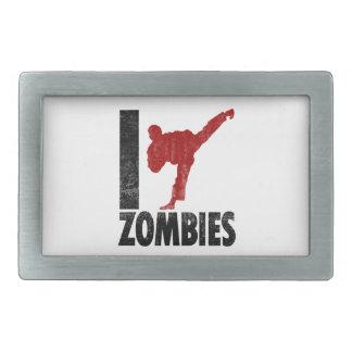 I Kick Zombies Belt Buckle