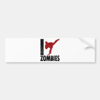 I Kick Zombies Car Bumper Sticker