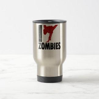 I Kick Zombies Travel Mug