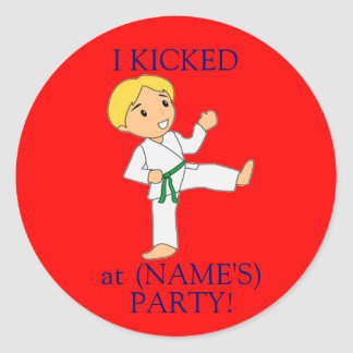 I Kicked at party stickers