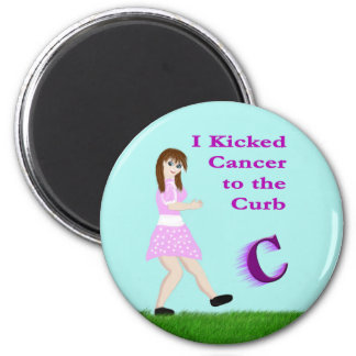 I Kicked Cancer to the Curb magnet