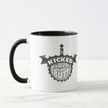 I Kicked Cancers BUTT Bone Cancer Mug