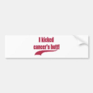 I Kicked Cancer's Butt Car Bumper Sticker
