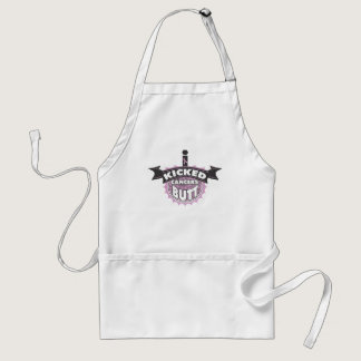 I Kicked Cancers BUTT Testicular Cancer Adult Apron