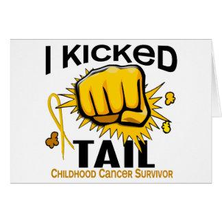 I Kicked Tail Childhood Cancer Survivor Greeting Card