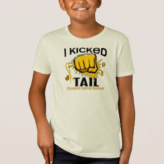 I Kicked Tail Childhood Cancer Survivor T-Shirt