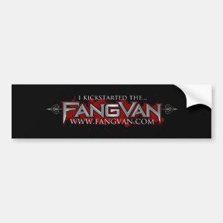 """""""I Kickstarted the FangVan"""" Official Bumper Sticker"""