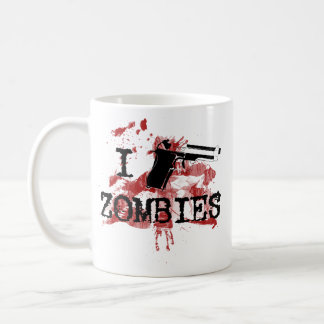 I Kill Zombies Classic White Coffee Mug