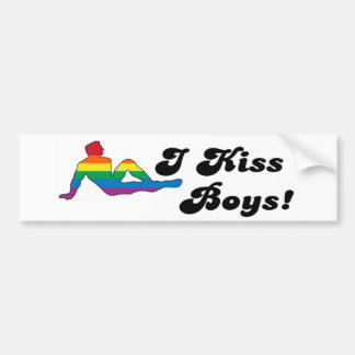 I Kiss Boys Car Bumper Sticker