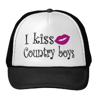 I Kiss Country Boys Trucker Hat