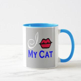 """I Kiss My Cat Cup"" Mug"