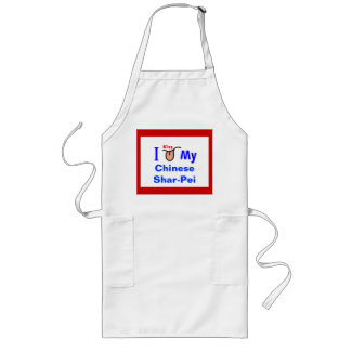 """I Kiss My Chinese Shar-Pei For Rescue"" Long Apron"