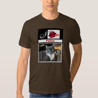 """I Kiss My Feline Add Photo Tee Shirt"""