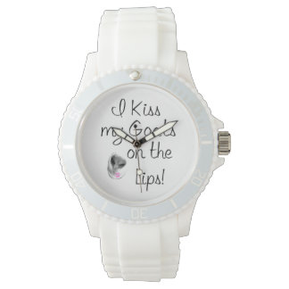 I Kiss MY Goats in the Lips Wrist Watch