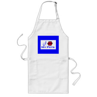 """I Kiss My Pets Cooking Apron"" Long Apron"