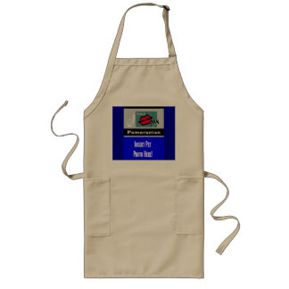 """I Kiss My Pomeranian Apron"" Long Apron"