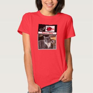 """I Kiss My Rescue Kitty  Add Photo Tee Shirt"""