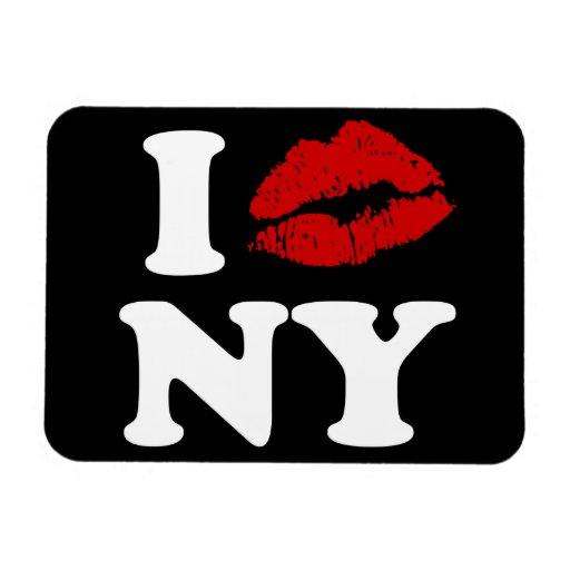 I Kiss New York Rectangular Photo Magnet