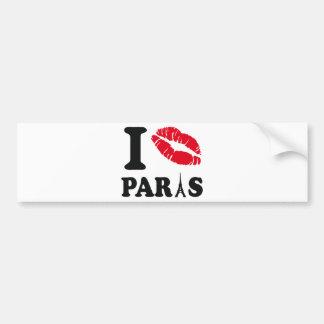 I kiss Paris Bumper Sticker