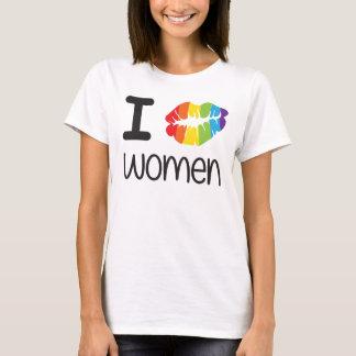 I Kiss Women Lesbian LGBT Pride T-Shirt