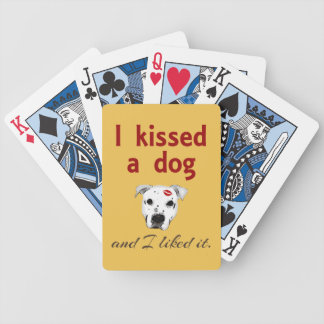 I Kissed a Dog Bicycle Playing Cards