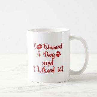 I Kissed A Dog Coffee Mug