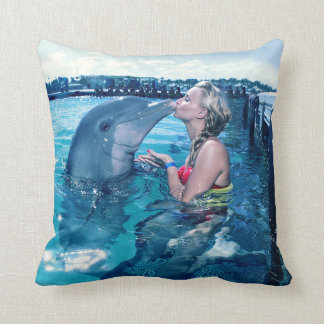 I KISSED A DOLPHIN # Miss Multiverse France Pillow