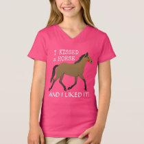 """""""I kissed a horse and I liked it"""" with bay pony T-Shirt"""