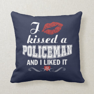 I kissed a POLICEMAN Throw Pillow