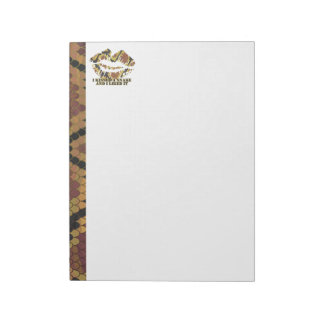 I Kissed a Snake Brown and Gold Print Notepad