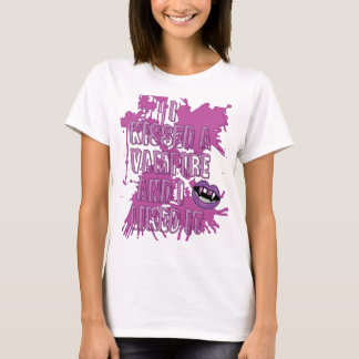 I Kissed A Vampire And I Liked It Halloween Shirt
