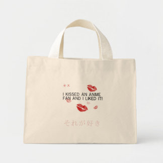 I kissed an anime fan and i liked it canvas bags