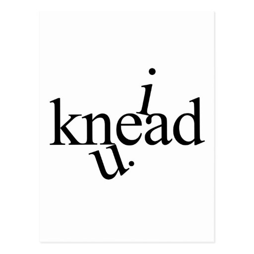 i Knead U. Postcards
