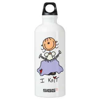 I Knit Aluminum Water Bottle