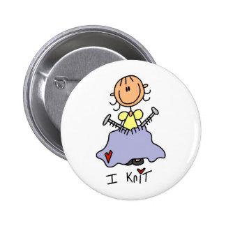 I Knit 2 Inch Round Button