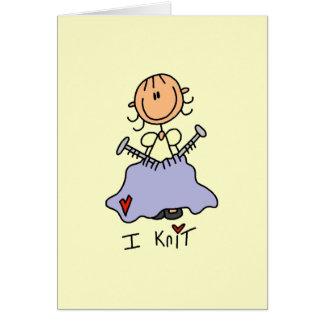 I Knit Stationery Note Card