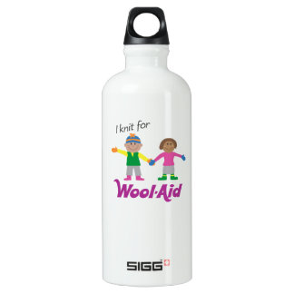 I Knit for Wool-Aid 1-side Aluminum Water Bottle