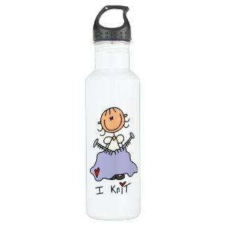 I Knit 24oz Water Bottle