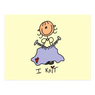 I Knit Postcard