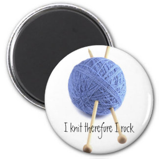 I knit therefore I rock Magnet