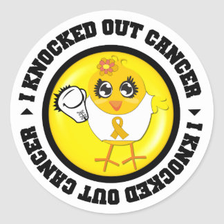 I Knocked Out Cancer (Appendix Cancer) Round Stickers