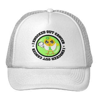 I Knocked Out Cancer (Lymphoma) Hats