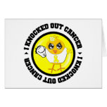 I Knocked Out Cancer (Sarcoma) Greeting Cards