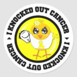I Knocked Out Cancer (Sarcoma) Stickers