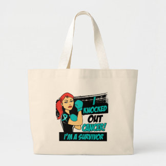 I Knocked Out Gynecologic Cancer Canvas Bags
