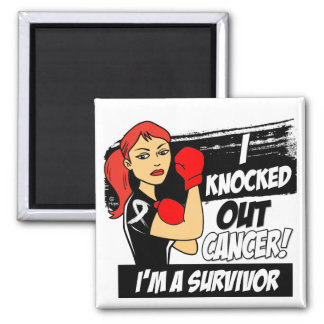 I Knocked Out Lung Cancer Magnet