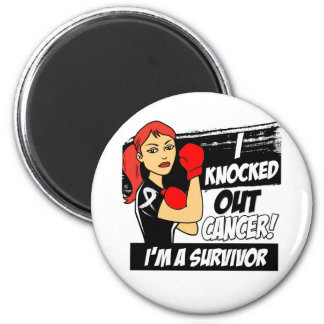 I Knocked Out Lung Cancer Refrigerator Magnets