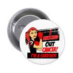 I Knocked Out Oral Cancer 2 Inch Round Button